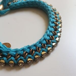 Cara of New York Blue Gem Tassle Bracelet